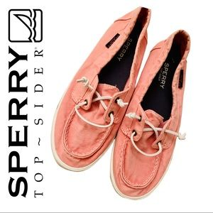 Sperry Topsiders Women's Pink Shoes, Size 9.5